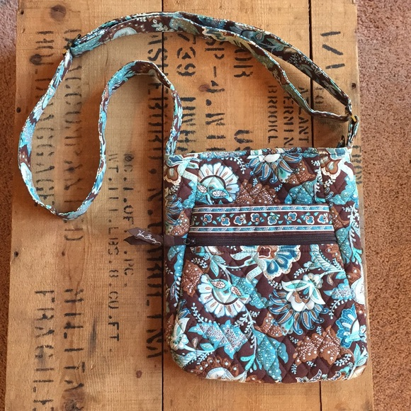 Vera Bradley Bags | Discontinued Java Blue Crossbody Hipster Purse